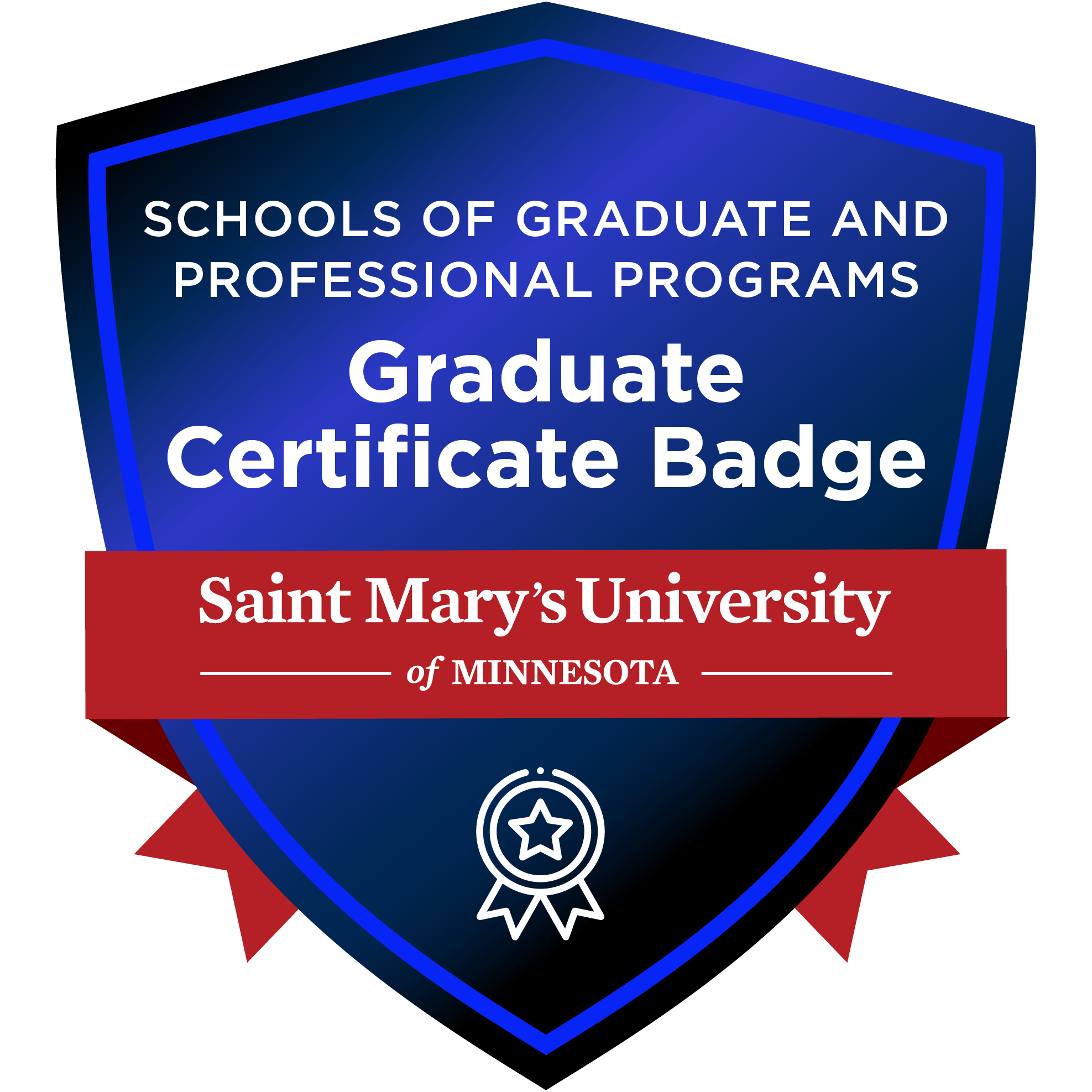 Schools of Graduate and Professional Programs Graduate Certificate Badge, Saint Mary's University of Minnesota